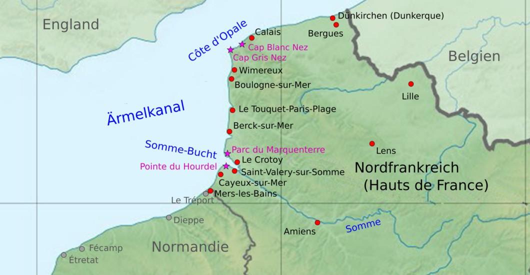 Nordfrankreich Karte.Nordfrankreich Urlaub Am Meer